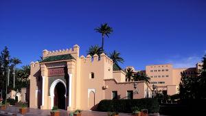 En del av lyxhotellet La Mamounia i Marakesh, Marocko.