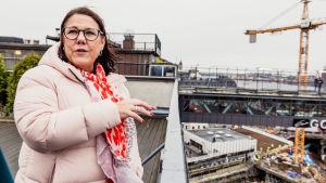 Eva Rosman och Slussenbygget.