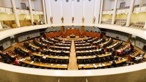 Riksdagens plenisal den 20 maj 2020.