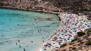 Kaninstranden på Lampedusa