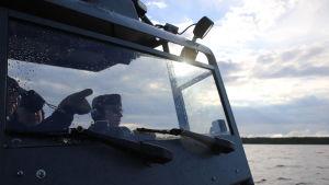 Sjöbevakningen på uppdrag i Bottenhavet.