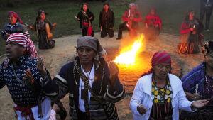 Mayaceremoni i Guatemala.