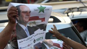 Abdel Fatah al-Sisi kandiderar i presidentvalet i Egypten som hålls i maj 2014.