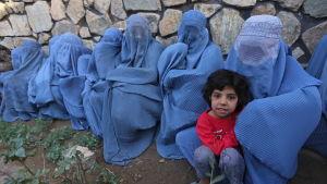 Afghanska kvinnor i burka.