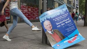 Valaffisch för högerpartiet Alternative für Deutschland i Hamburg inför förbundsdagsvalet i Tyskland i september 2017.