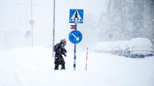 Snö i Stockholm