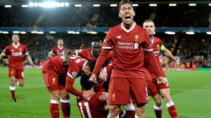 Liverpool besegrade Manchester City med 3-0 i första Champions League-kvarten.