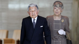 Kejsar Akihito och kejsarinnan Michiko.