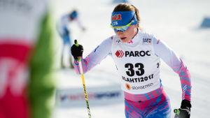 Johanna Matintalo i VM i Lahtis.