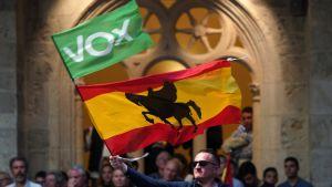 Vox för valkampanj i Burgos i norra Spanien