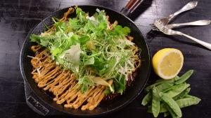 Japanilainen munakas paistinpannussa