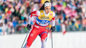 Kristine Stavås Skistad under skid-VM i Seefeld.