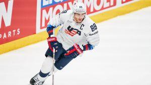 Patrick Kane var lagkapten för USA:s VM-lag i våras.