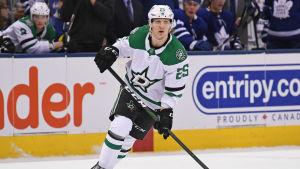 Joel Kiviranta fick under säsongen spela NHL-hockey i Dallas.