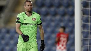 Lukas Hradecky i Europa League-matchen mot Hapoel Beer Sheva.