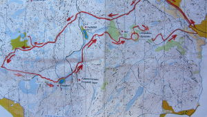 Karta över Sibbo storskog