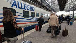 Allegro-tåg.