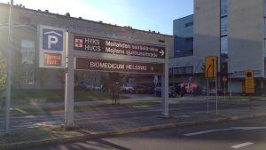 Mjelans sjukhusområde i Helsingfors.