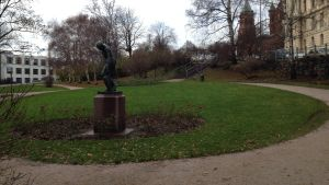 Tove Janssons park på Skatudden i Helsingfors.