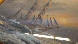 Målning av Adolf Bock, daterad år 1924.