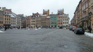 Stadsbild i Warszava.