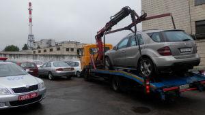Bilar i Vitrysslands huvudstad Minsk