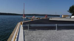 Nya fiskekajen i Joddböle i Ingå.