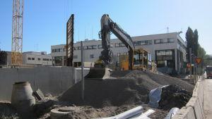 Bygget av Havsvindsvägen i Hagalund
