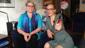 Television himokatsoja Armi Jalasjoki ja Stradan Marjut Tervola.