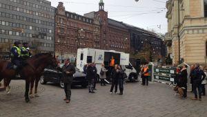 Horse Show-veckan inleddes i Helsinfors centrum.