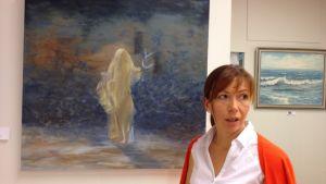 Victoria Yaroshik, bildkonstnär bosatt i Nådendal