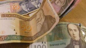 Litas som upphörde att vara Litauens valuta 1.1.2015. Nu euro.