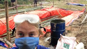 rakennustyömaalla suojavarusteet käsitteluainepölyn vuoksi