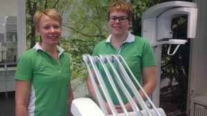 Katrina Viklund-Antfolk och Veronica Lindqvist blev företagare i Mittistan-huset
