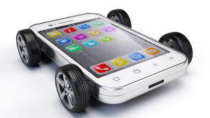 Älypuhelin-auto