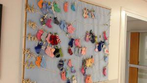 små sockor på ÅUCS förlossningsavdelning