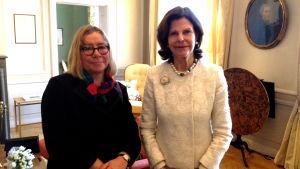 Lena Linderborg har träffat drottning Silvia