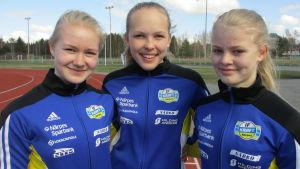 Amanda Nordström, Emma Lipkin, Lina Holmberg