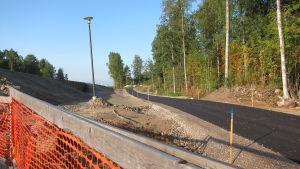 cykelväg vid torvbanevägen i Esbo