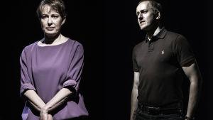 Anna Hultin och Niklas Åkerfelt i Svenska teaterns Kvinna till salu
