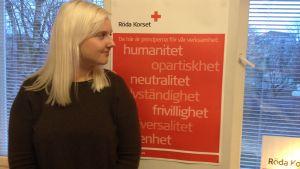 Mia Eklund jobbar på Röda Korset