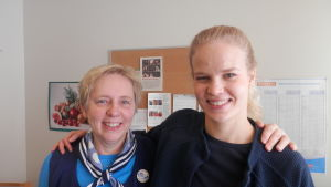 Hälsovårdarna Gunnel Boström och Johanna Smeds