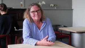 Astrid Nikula från Kulturkiosken i Jakobstad