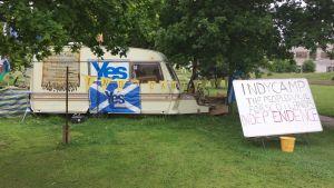 Självständighetsivrare i Skottland.