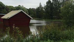Vatten på en gård i Karkmo, Korsholm.