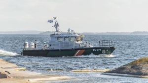 Sjöbevakningsbåt på Åland.