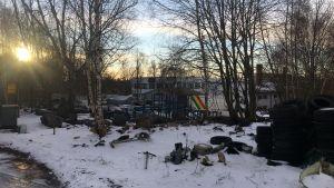 Rahkola-tomten på Brändö i Vasa.