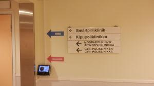 Smärtpolikliniken vid Malmska sjukhuset i Jakobstad