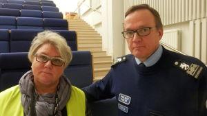 Säkerhetschef Kaija Kähäri-Wiik och överkommissarie Erkki Kerola