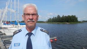 Överkommissarie Hans Snellman vid Österbottens polisinrättning
